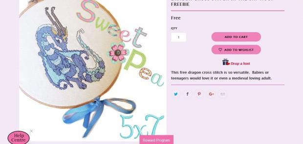 Sweet Pea sample design dragon 1