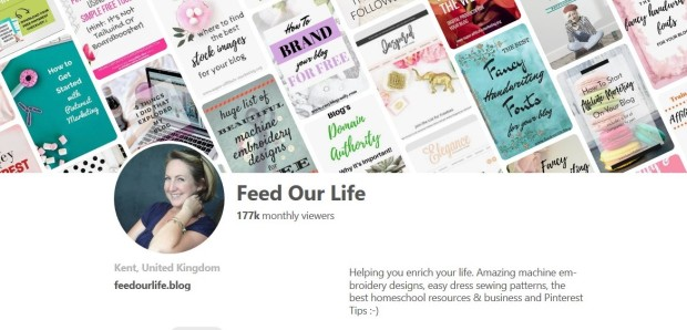 Feed Our Life Pinterest Profile Page Follow Me on Pinterest