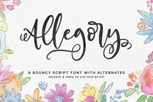 Allegory Script Font for blogs and websites