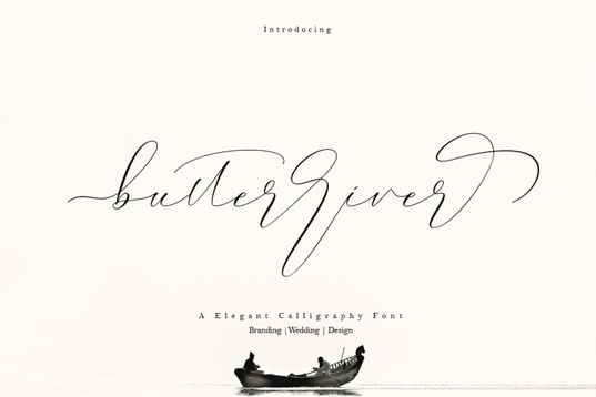 Hungryjpeg Butterriver FONT for blogs & wedding stationery