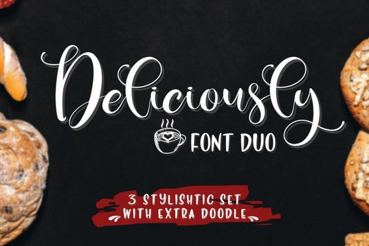 Deliciously handwritten font for blogs & menus
