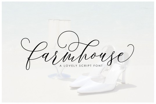 Farmhouse handwritten font for blogs & wedding stationery