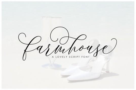 Farmhouse handwritten font for blogs & wedding stationery