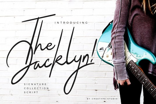Jacklyn Script Font Signature Collection for blogs stationery logos and brands