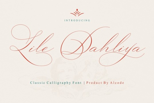 Lile Dahliya Classic Calligraphy Font for wedding stationery and blogs