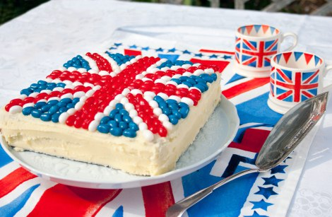 Royal Wedding Crafts - Union Jack Jelly Bean Cake