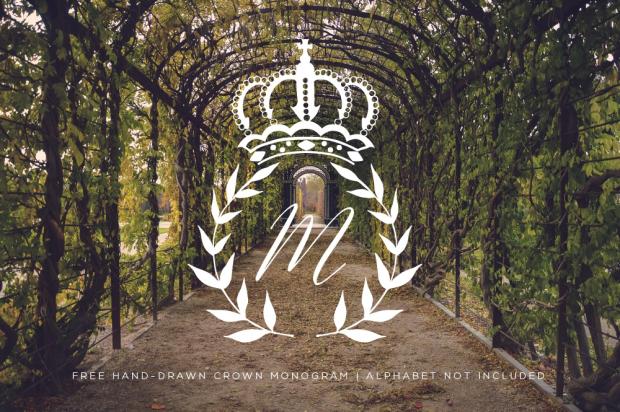 Royal Wedding Crafts - Crown Monogram svg, png, eps, dxf printable download
