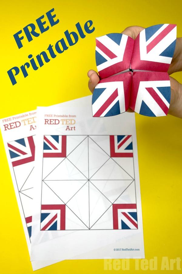 Royal Wedding Crafts - Fortune Teller / Cookie Catcher Printable