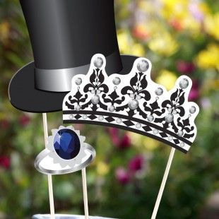 Royal Wedding Crafts - Photo Booth Props Printables