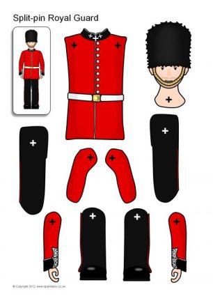 Royal Wedding Crafts - Royal Guard split pin