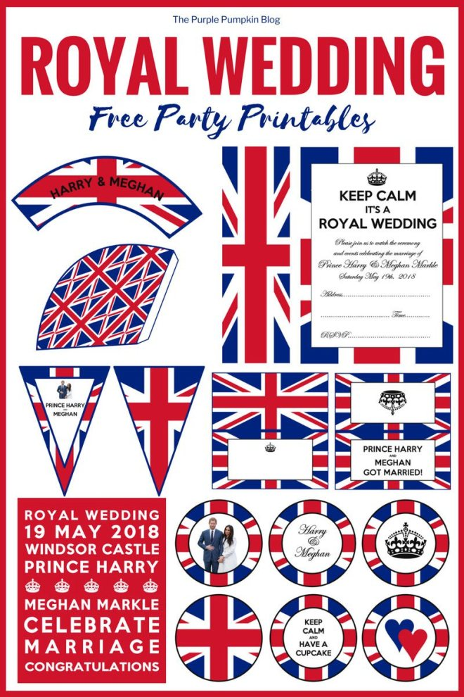 Royal Wedding Crafts - free party printables