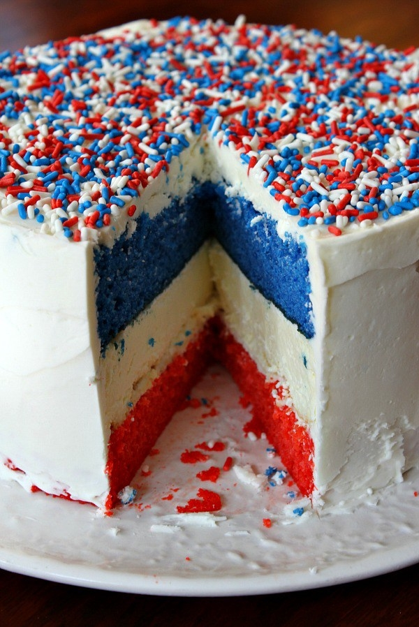 Royal Wedding Crafts - Red, White & Blue Royal Wedding Cheesecake