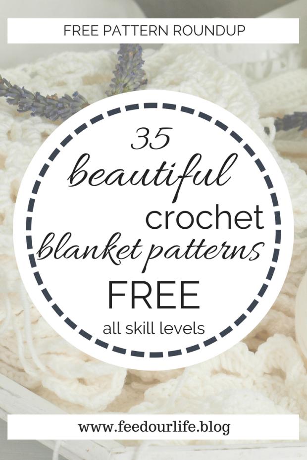35 beautiful crochet blanket patterns free all skill levels - best free crochet blanket patterns - www.feedourlife.blog