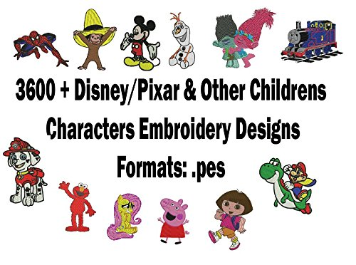 3600 Disney Brother Pes Embroidery Designs New Feed Our Life
