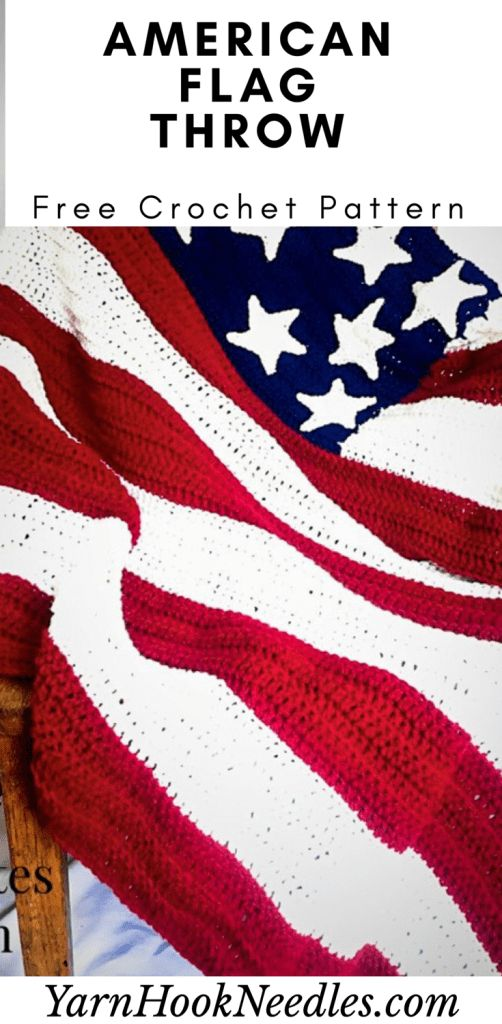 American Flag Throw Free Crochet Pattern - best crochet blanket patterns - www.feedourlife.blog