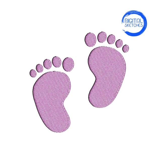 Baby feet embroidery design pattern for kids, www.feedourlife.blog