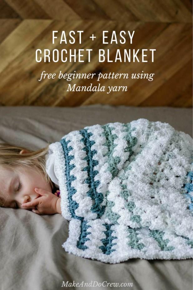 fast and easy crochet blanket - best crochet blanket patterns - www.feedourlife.blog
