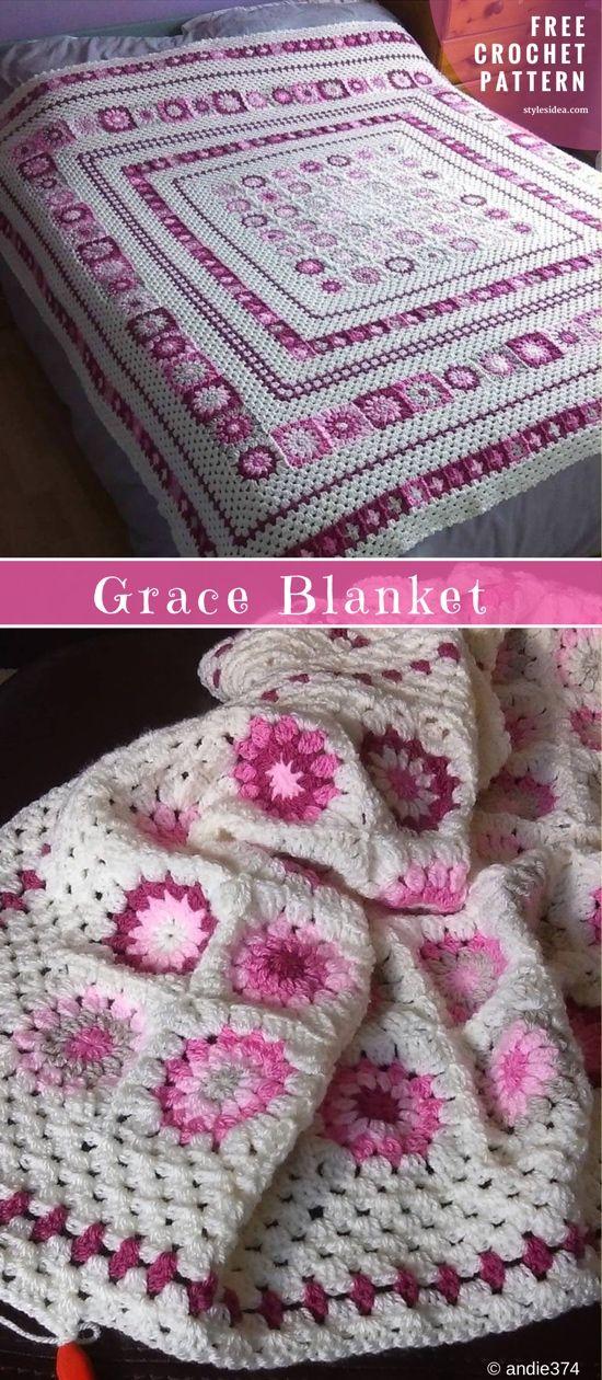 Grace Crochet Blanket Pattern - best free crochet blanket patterns - www.feedourlife.blog