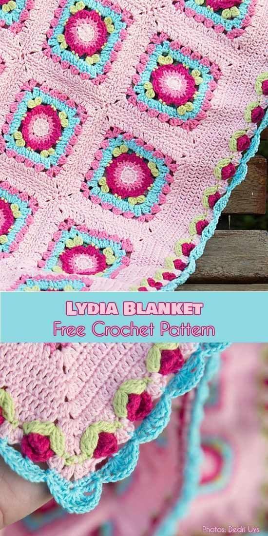 Lydia Blanket free crochet pattern - best free crochet blanket patterns - www.feedourlife.blog