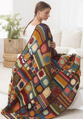Patterned Afghan Ultimate Crochet Blanket - best crochet blanket patterns - www.feedourlife.blog