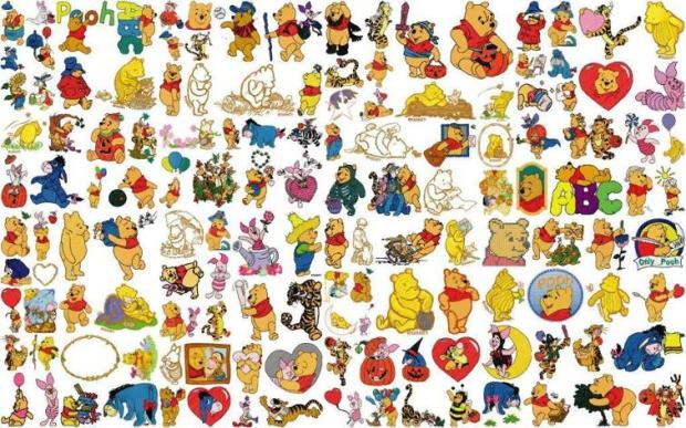 Pooh Disney embroidery designs for kids, embroidery patterns for kids - www.feedourlife.blog