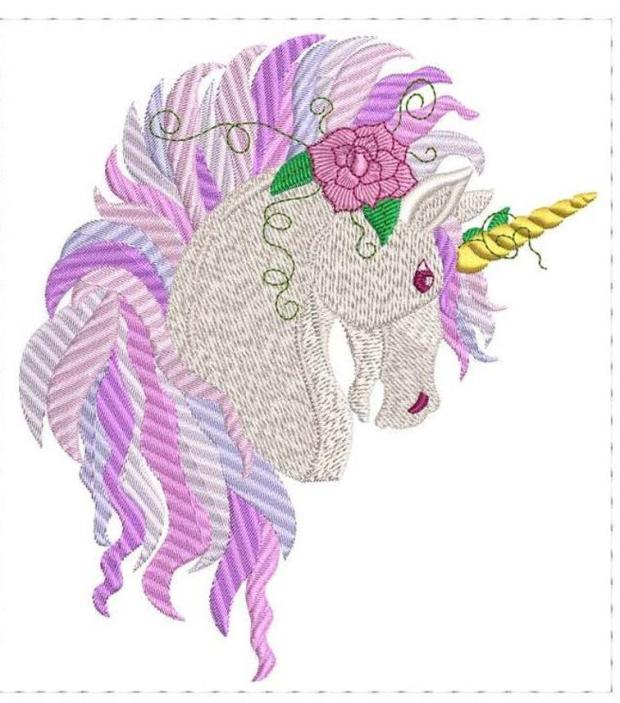 Rose Unicorn embroidery design pattern, embroidery patterns for kids, www.feedourlife.blog