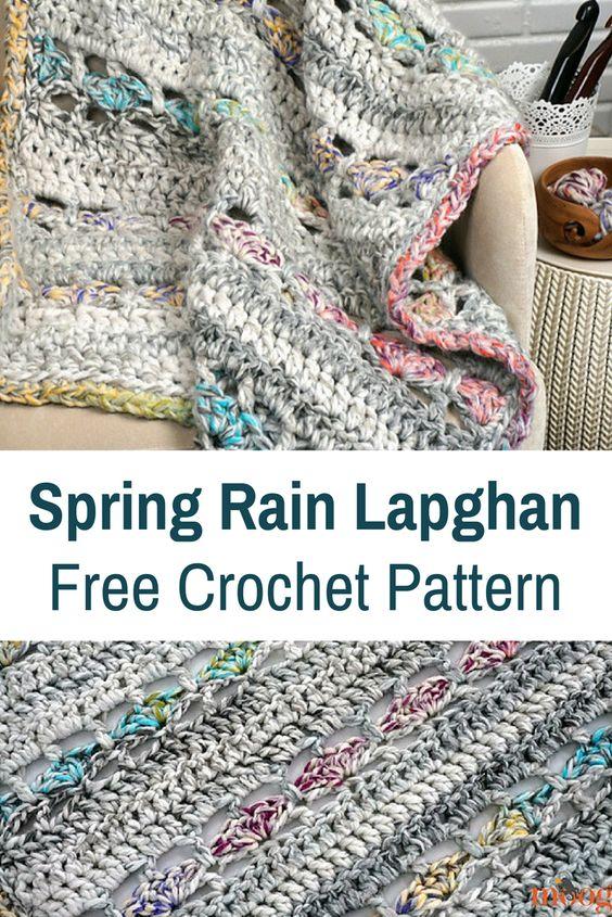 Spring Rain Lafghan Crochet Pattern - best free crochet blanket patterns - www.feedourlife.blog