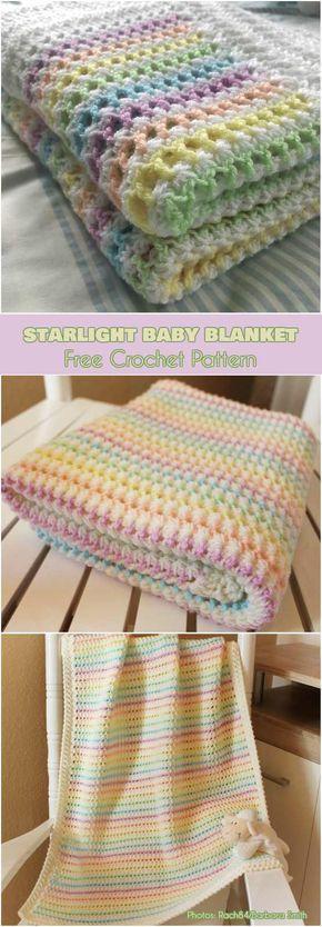 Starlight Baby Blanket Free Pattern - best free crochet blanket patterns - www.feedourlife.blog