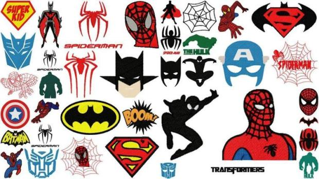 Super Hero embroidery designs, embroidery patterns for kids, www.feedourlife.blog