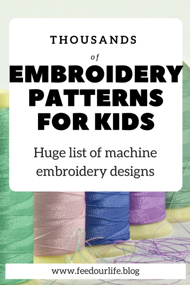 Embroidery Patterns For Kids Feed Our Life