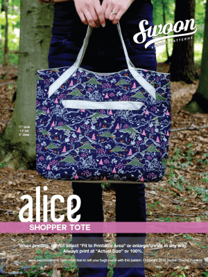 Alice shopper tote free pattern by Swoon Sewing Patterns and brought to you by www.feedourlife.blog