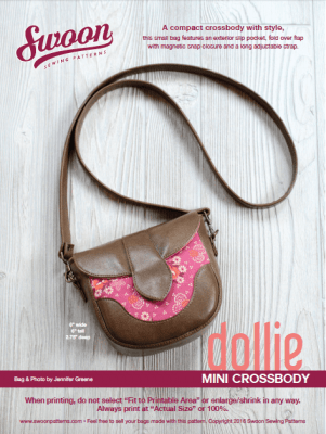 Dollie Mini Cross Body Bag Free Pattern from Swoon Sewing Patterns and brought to you by www.feedourlife.blog
