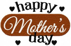 Happy Mothers Day Free Embroidery Design Number 3