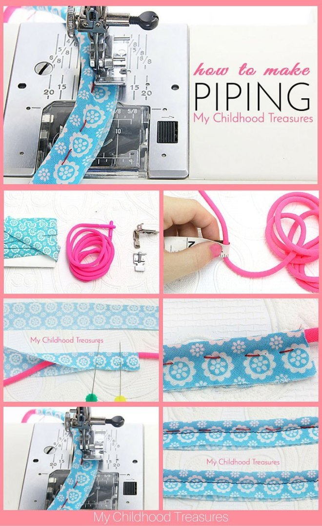 How to make piping, for beginners, Part 1, by the Treasurie and brought to you by www.feedourlife.blog