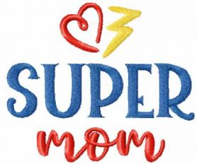 Super Mom Free Embroidery design brought to you by www.feedourlife.blog