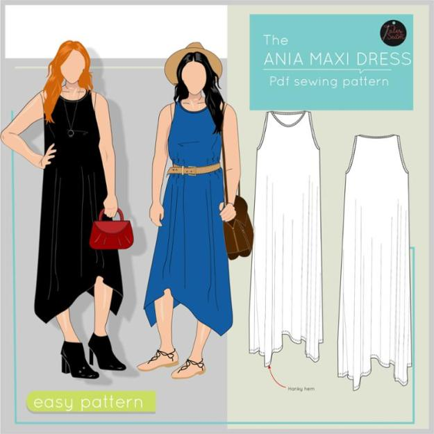 FREE PATTERN - Ania Maxi Dress - by Tales of the Seam and brought to you by www.feedourlife.blog