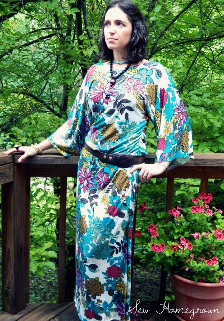 FREE PATTERN - Beginner Maxi Dress - by Sew Homegrown nad brought to you by www.feedourlife.blog