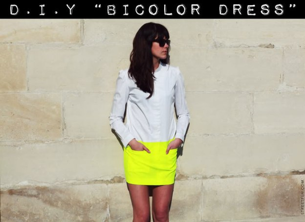 FREE PATTERN - DIY Bi Colour Dress - by Style Scrapbook and brought to you by www.feedourlife.blog