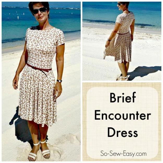 FREE PATTERN - Brief Encounter Dress - by So Sew Easy and brought to you by www.feedourlife.blog