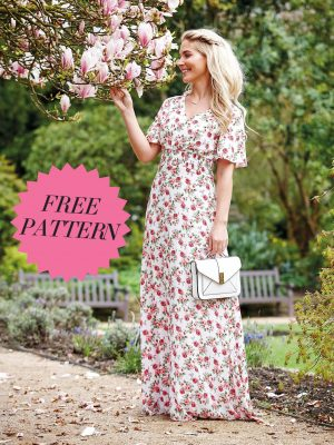 FREE PATTERN - Amelia Maxi Dress - by Love Sewing Mag and brought to you by www.feedourlife.blog