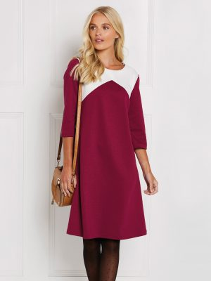 FREE PATTERN - Angled Ponte Roma Dress - by Love Sewing Mag and brought to you by www.feedourlife.blog