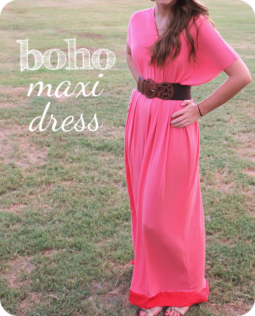 FREE PATTERN - Boho Maxi Dress by Sweet Verbena and brought to you by www.feedourlife.blog