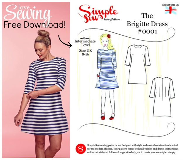 FREE PATTERN - Brigitte dress pattern by Love Sewing Mag and brought to you by www.feedourlife.blog