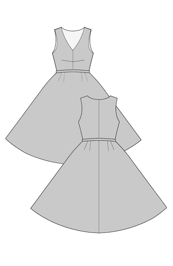 FREE PATTERN - Carmen Dress 1950's Vintage Dress - by Ralph Pink.com and brought to you by www.feedourlife.blog