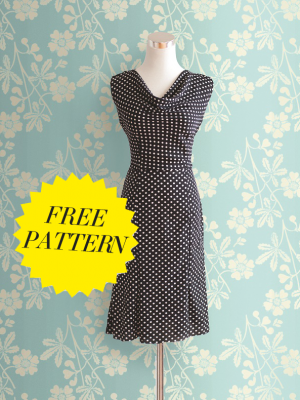 FREE PATTERN - Cowl Dress - by Tanya Whelan and brought to you by www.feedourlife.blog