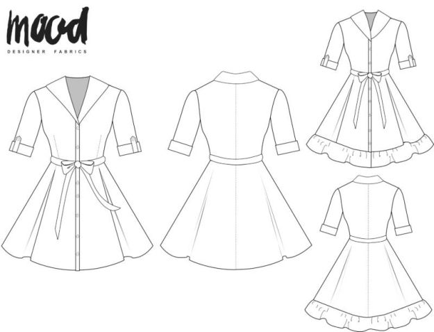 FREE PATTERN - Cypress Dress - by Mood Sewciety and brought to you by www.feedourlife.blog