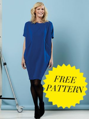 FREE PATTERN - Great British Sewing Bee Drapey Dress - by Love Sewing Mag and brought to you by www.feedourlife.blog