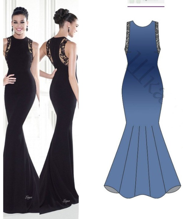 FREE PATTERN - Evening dress pattern by Tank Ediz and brought to you by www.feedourlife.blog
