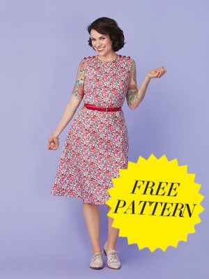 FREE PATTERN - Gretchen Gertie Hirsch Floral Dress - by Love Sewing Mag and brought to you by www.feedourlife.blog