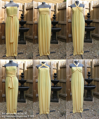 FREE PATTERN - Golden Goddess Gown - by Sharon Sews and brought to you by www.feedourlife.blog